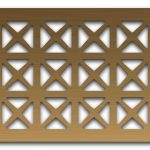 AAG703 Perforated Metal Grilles in Bronze & Brass
