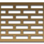 AAG705 Perforated Metal Grilles in Bronze & Brass