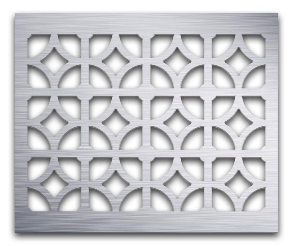 AAG708 Perforated Metal Grilles in Aluminum