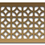 AAG708 Perforated Metal Grilles in Bronze & Brass
