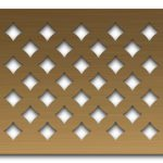 AAG710 Perforated Metal Grilles in Bronze & Brass
