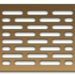 AAG714 Perforated Metal Grilles in Bronze & Brass