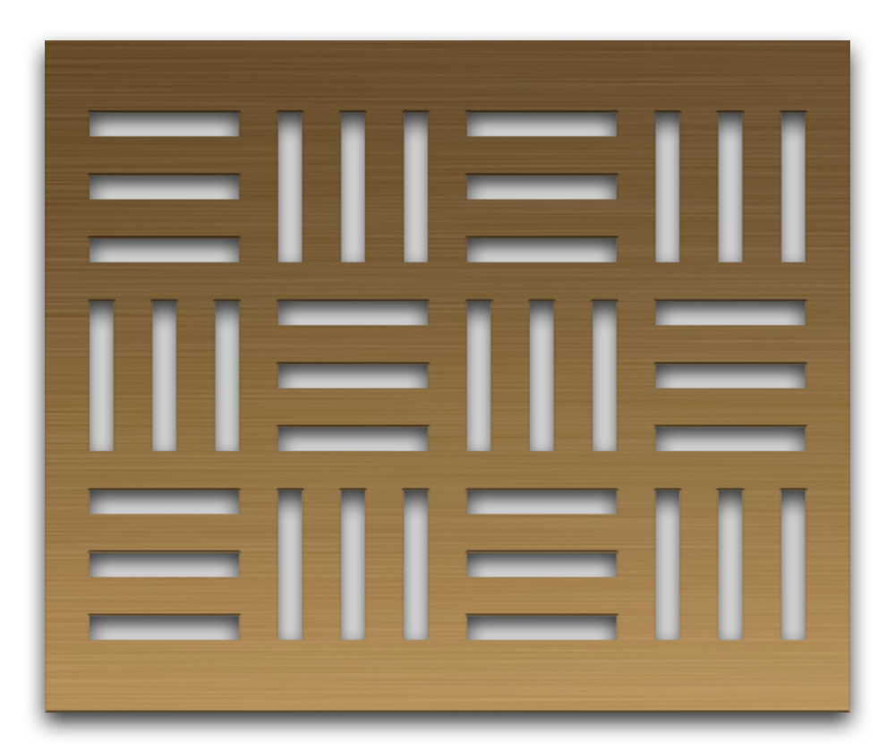 AAG715 Perforated Metal Grilles in Bronze & Brass
