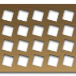 AAG716 Perforated Metal Grilles in Bronze & Brass