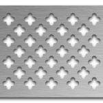 AAG717 Perforated Metal Grilles in Stainless Steel & Steel