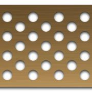 AAG721 Perforated Metal Grilles in Bronze & Brass