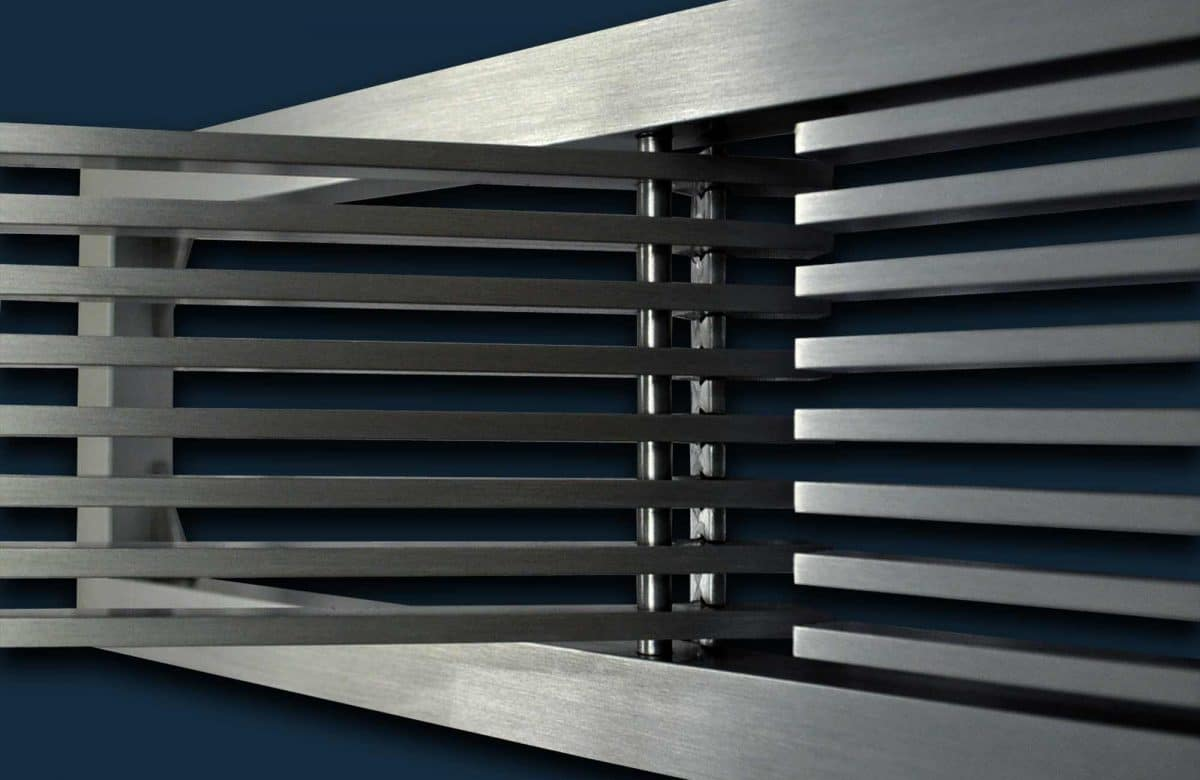 AAG200 B Frame Stock bar linear grille with access door