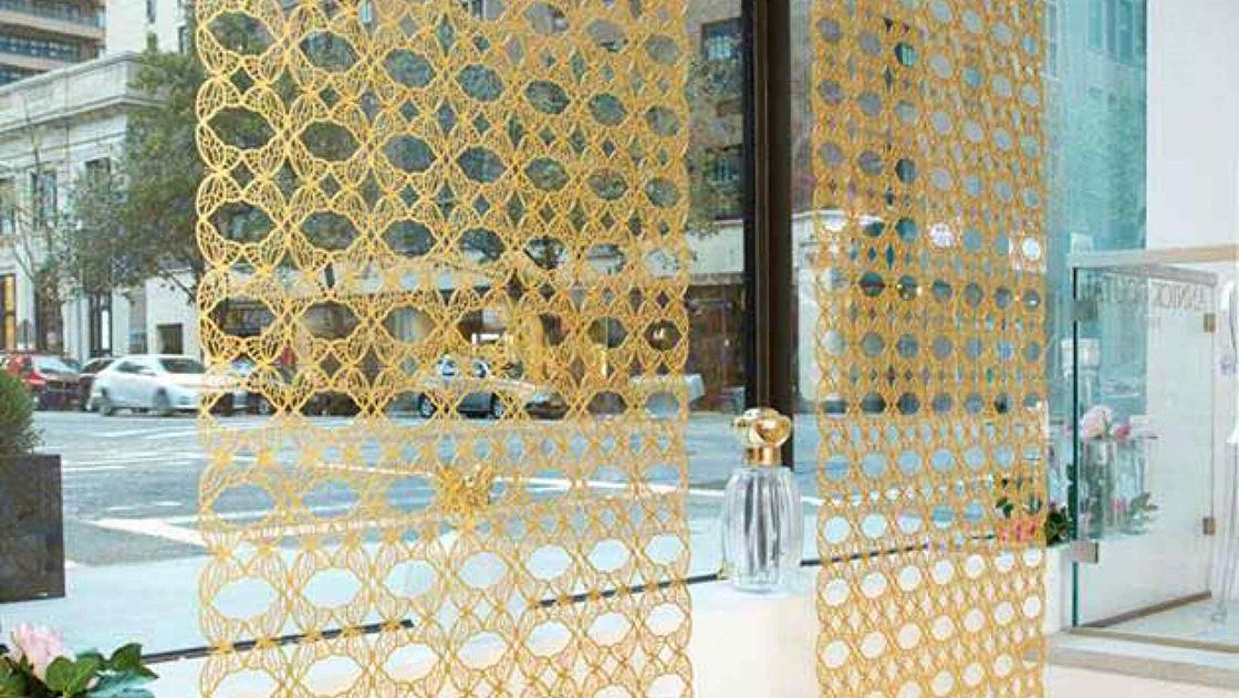 custom decorative metal screens for boutique