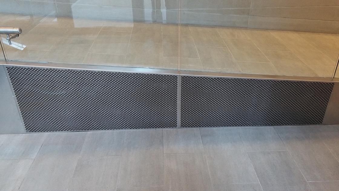 aag705 brick Custom Laser Cut perforated metal grilles