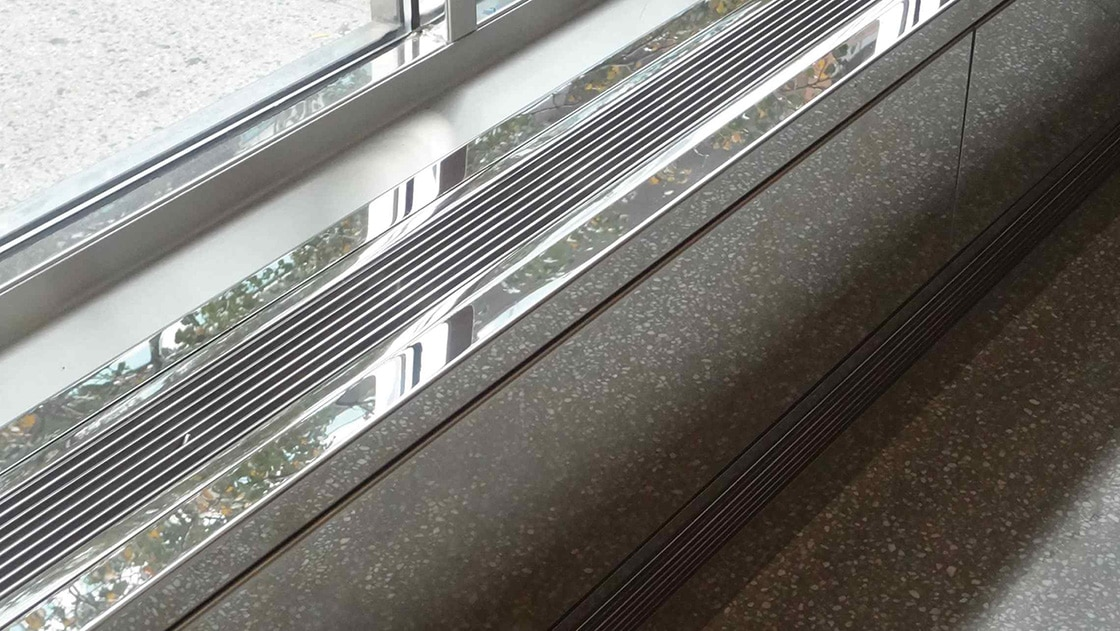 aag100 mirror polished stainless steel linear grilles