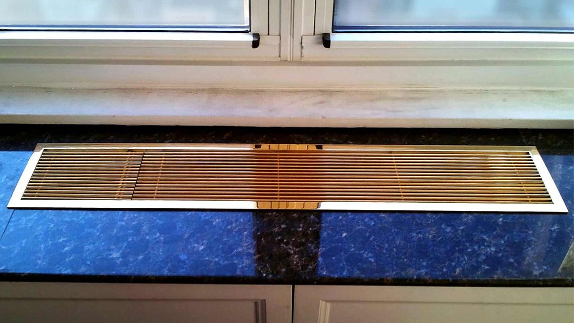 aag100 mirror polished bronze linear grilles