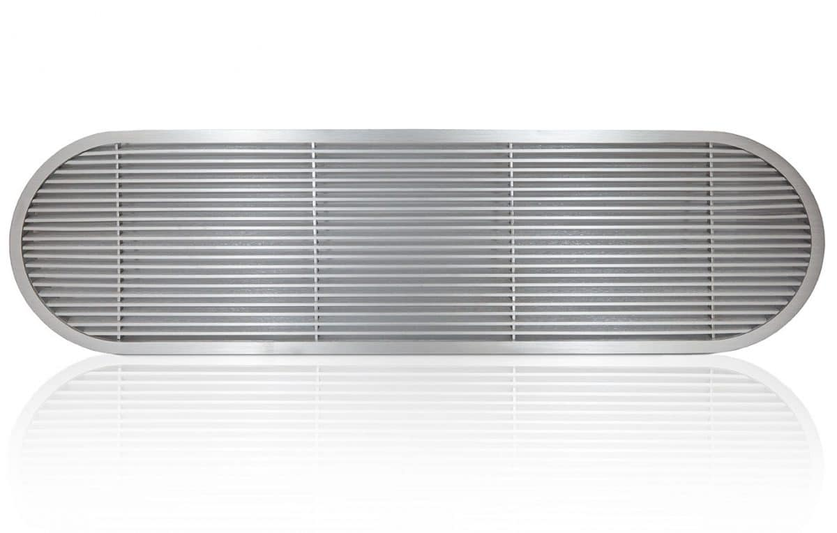 oval linear bar grille for spiral duct